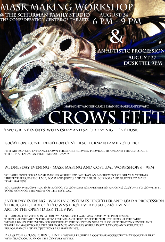 Crows feet invitation to mask making workshop artistic crows feet invitation to mask making workshop artistic procession stopboris Images