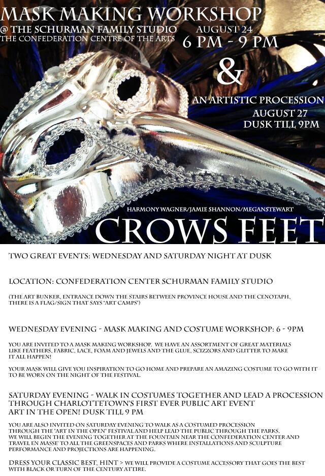 Crows feet invitation to mask making workshop artistic crows feet invitation to mask making workshop artistic procession stopboris Choice Image